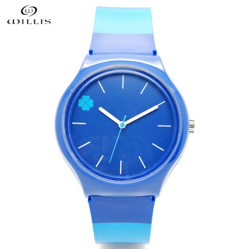 WILLIS Wristwatches Women Quartz Watch Women Brand Clock Wrist Watches Four Leaf Clover Design Waterproof Sports Watch For Women