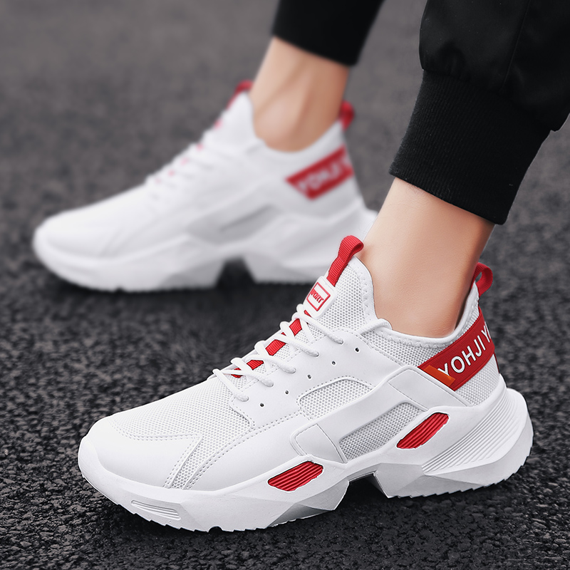 2019 spring new casual mesh shoes breathable sports running shoes in Men 39 s Casual Shoes from Shoes