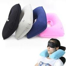 Car Seat Pillow Inflatable Air Cushion Neck Rest U-Shaped Compact Plane Flight Travel Pillows Home Textile