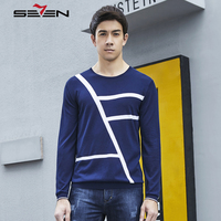Seven7 2019 New Autumn Brand Casual Sweater O Neck Striped Slim Fit Knitting Mens Sweaters And Pullovers Men Jumper 112Y60010