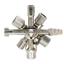 Multi-funcional 10 em 1 cruz chave ferramentas manuais para eletricista encanador válvula universal chave quadrada