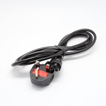 Шнур питания, свинцовый 3 Pin КЛЕВЕР, вилка Великобритании, ПК, ЖК-светодиодный кабель, зубец, ноутбук для ноутбука HP Lenovo Sony Toshia DELL для IEC-C7 IEC-C5