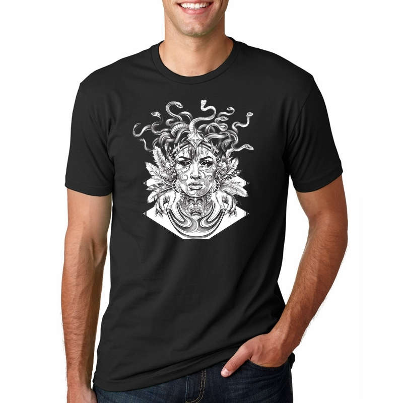 Cool Medusa T Shirt Adult New Unique Tee Shirt Medusa 2017 Custom Made T-Shirts Men's Summer Round Neck Cool Teenboys Tee #243