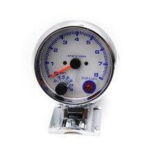 """3 3/4 """"Universal 0-8000 RPM metro Del Coche gauge con luz de cambio inter Chorme Color/Tacómetro/calibre automático/metro Carreras YC100140"""