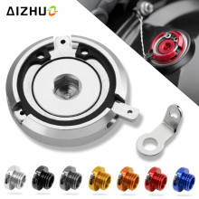цена M20*2.5 Motorcycle Engine Oil Filler Cup Cap Reservoir Cup For honda dio vfr 800 cb400 pcx 125 nc750x shadow 750 gl1800