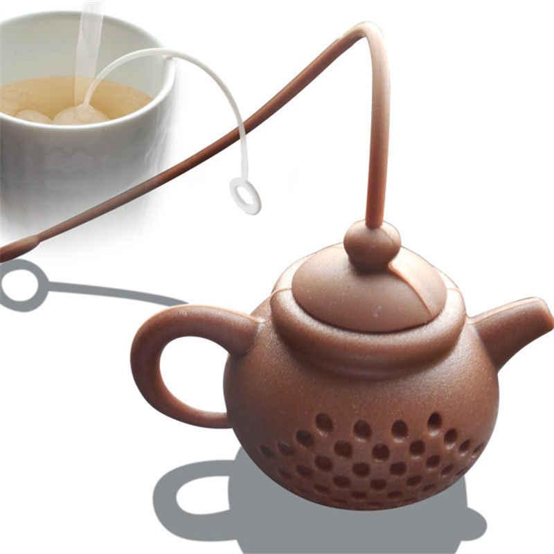 1 PC 6*4 CM מזון כיתה סיליקון קומקום-צורת תה Infuser ירוק אולונג שחור תה מסננת תה תיק עלה מסנן בית מטבח כלים