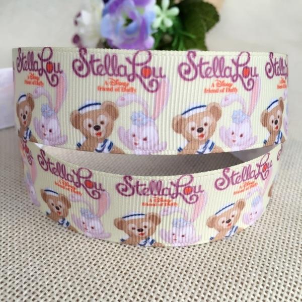 1 «25 мм новая распродажа 5 двор японской анимации кролик мультфильм печатных ребро ленты Diy Волосы DIY материалы ручной работы, свадебная подарочная упаковка