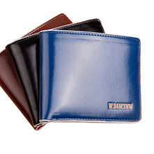 Hot Sale Fashion New Men Wallets Quality Patent Leather Mobile Page Short Style 3 Colors Credit Card Holder Wallet Free Shipping(China)