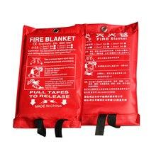 2x2 м огонь-Одеяло аварийного безопасность, выживание пожаров Стекло закрывающийся тканевый 0,45 мм предварительно аварийного персональное защитное противопожарная защита-укрытие