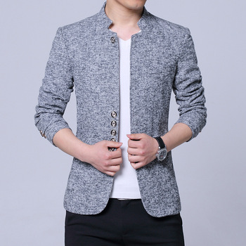 Leisure suit Cultivate one's morality coat collar suit