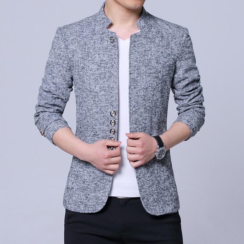 2020 Men Leisure Suit Age Season Cultivate One's Morality Coat Collar Suit