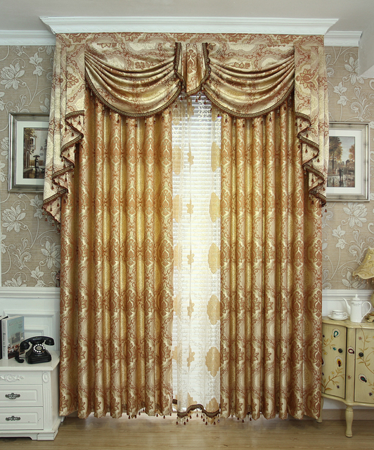 On Sales High Quatily Fashion Luxury Ziziphus Jacquard Finished Products Bedroom Tulles Valance Curtain Cortain For