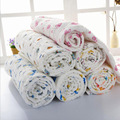 110*110 cm Juego de Cama de Bebé 100% Algodón Toalla de Baño Del Bebé Swaddle Envuelve manta Hecha Punto bebé hoja de Nuevo Diseño Mantas de bebé