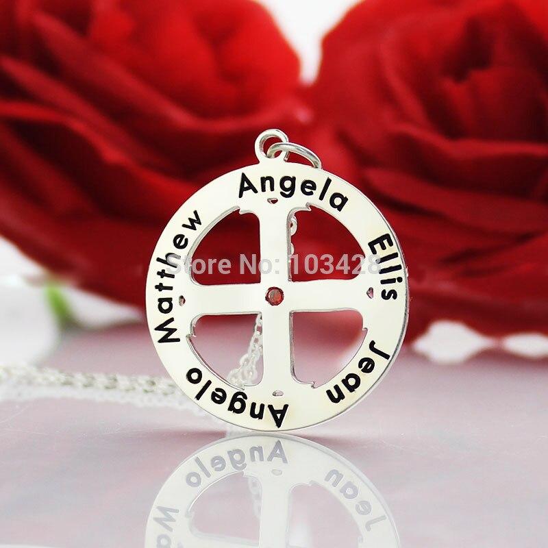 Collar con una Cruz de Plata Collar de Nombre Grabado personalizado ...