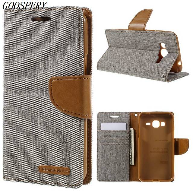 new arrival e9d55 8750f US $9.99 |For Samsung Galaxy J3 Case MERCURY GOOSPERY Canvas Leather  Magnetic Flip Cover Case for Samsung Galaxy J3 J300 / J3 2016 J310-in  Wallet ...