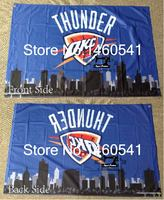 Oklahoma City Thunder Oklahoma City Skyline Flag 3ft X 5ft Polyester NBA Team Banner Flying Size
