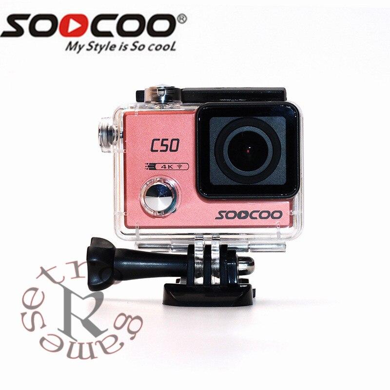 Caméra d'action de Sport gyroscopique d'origine fucoo C50 Wifi 4 K angles de vision réglables NTK96660 30 M Sport étanche DV