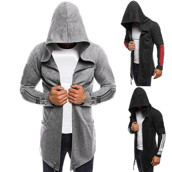 Men Hooded Sweatshirts Hip Hop Sleeve Print Mantle Hoodies Fashion Jacket Long Sleeves Cloak Mans Coats Outwear Clothes Coat