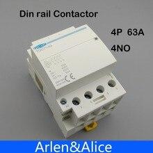 TOCT1 4P 63A 220V Катушка 400V~ 50/60HZ Din rail бытовой ac Контактор В соответствии с стандартом 4NO 2NO 2NC 4NC