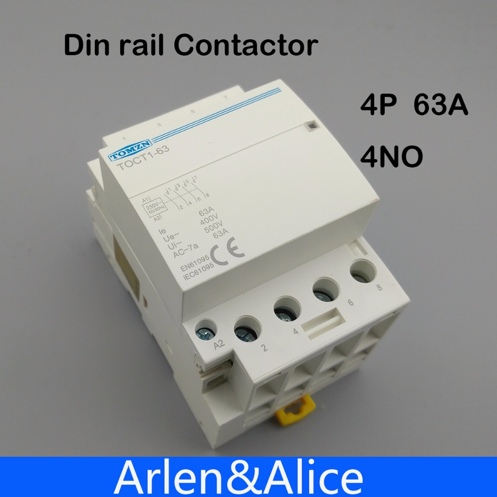 TOCT1 4 p 63A 220 v BOBINA 400V ~ 50/60 hz su guida Din Per Uso Domestico ac Modulare contattore 4NO 2NO 2NC 4NC