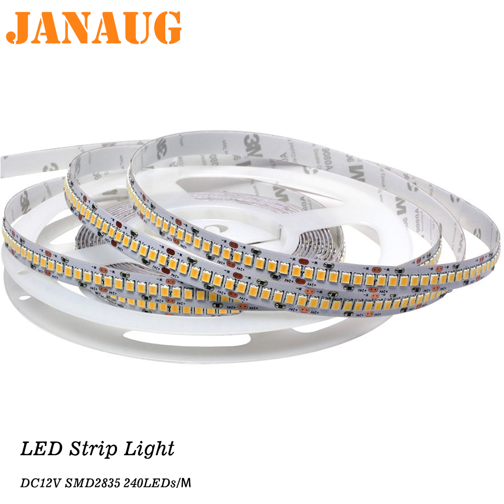 Bande LED Ribbon 12V ledstrip <font><b>2835</b></font> LEDs SUPER Shining bright and uniform 1M, 2M, 3M, 4M, 5M cuttable LED Tape fast shipping image