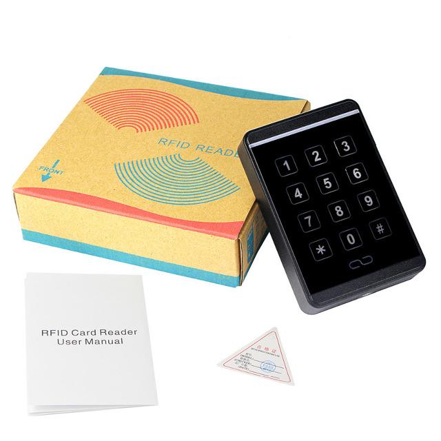 Leitor de Cartão Teclado de Toque à prova d' água Para O Sistema de Controle de Acesso RFID Leitor de Cartão Wg26 Nno F1688A