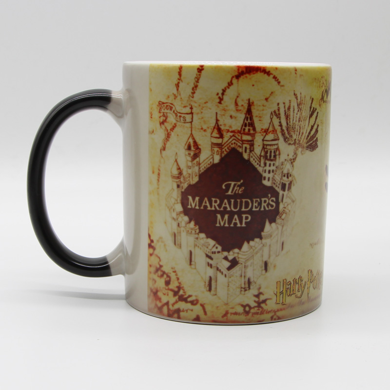 Dropshipping Old Harry Potter Marauder Map Color Changing Coffee Mugs Magic heat sensitive Tea Cup Mug Mischief Managed harry potter mug marauders map