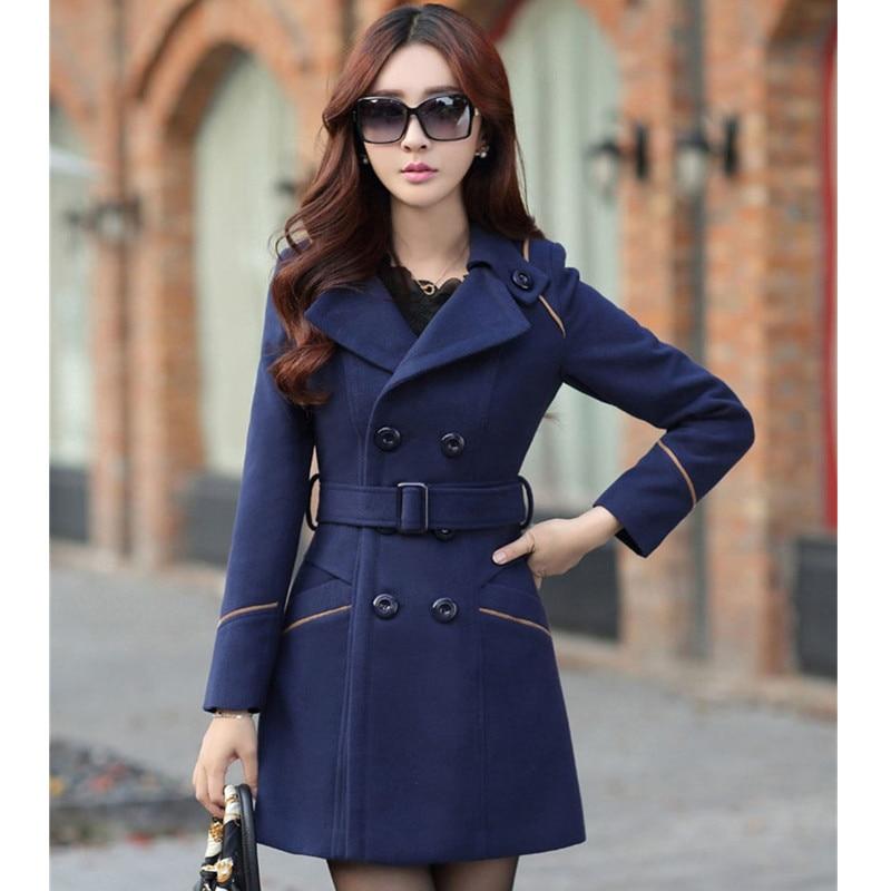 YAGENZ M-3XL Autumn Winter Wool Jacket Women Double Breasted Coats Elegant Overcoat Basic Coat Pockets Woolen Long Coat Top 200 2