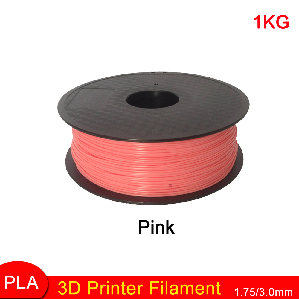 1china Pink Color 3D Printer Filament PLA 1.75mm 1KG Plastic 3D Printing Materials for MakerBot RepRap 3D Printer and 3D Pen 3d printer filament 50m 5 colors 10m color abs pla 1 75mm 3d filament printing materials for 3d printing pen 3d printer