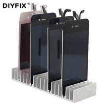 for iPhone Samsung LCD Panel Refurbish Support Station Phone Repair Tools Aluminum Metal LCD PCB Holder Tray Slots