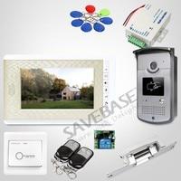 HOMSECUR 7 дюймов Видеодомофон Система с Беззвучным Режимом для дома безопасности для квартиры: XC001 + XM708 G