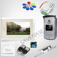 HOMSECUR 7inch Video Door Intercom System with Mute Mode for Home Security for Apartment : XC001+XM708 G