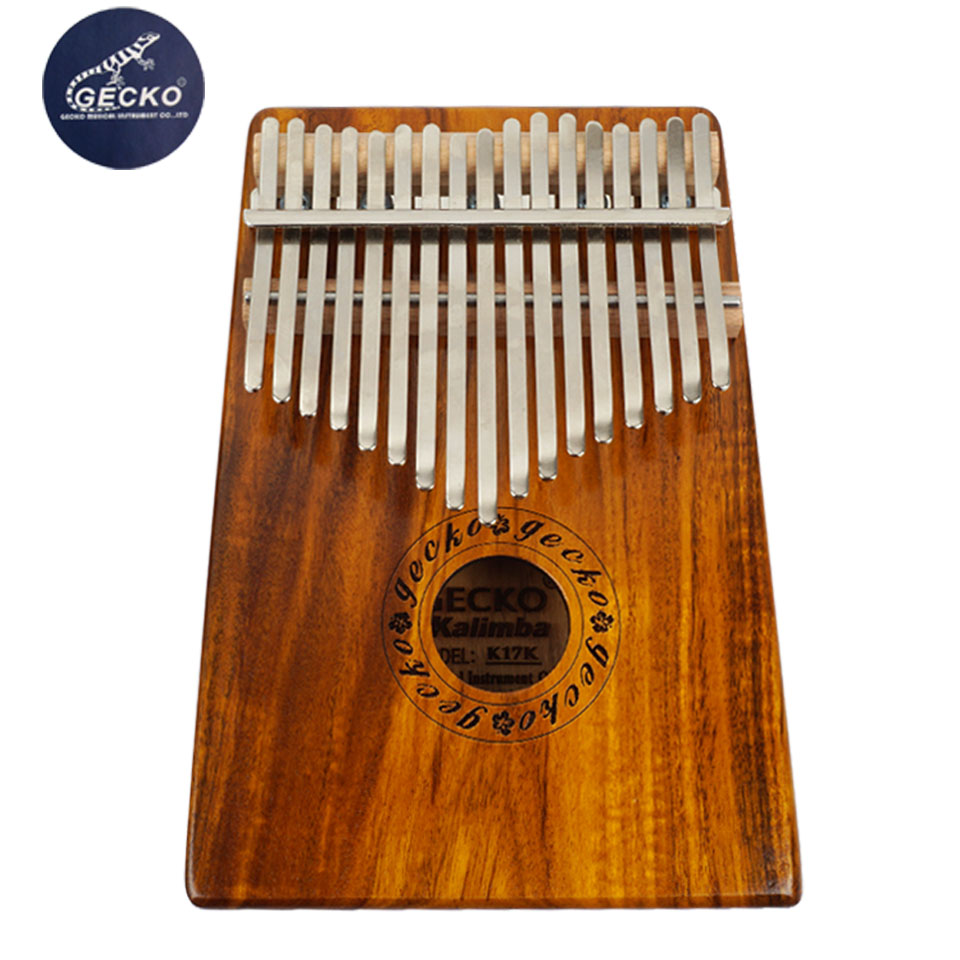 Gecko Electric17 Key K17K Kalimba 17 African Thumb Piano Finger Percussion Keyboard Music Instruments Kids Marimba Acacia Wood marimba plus