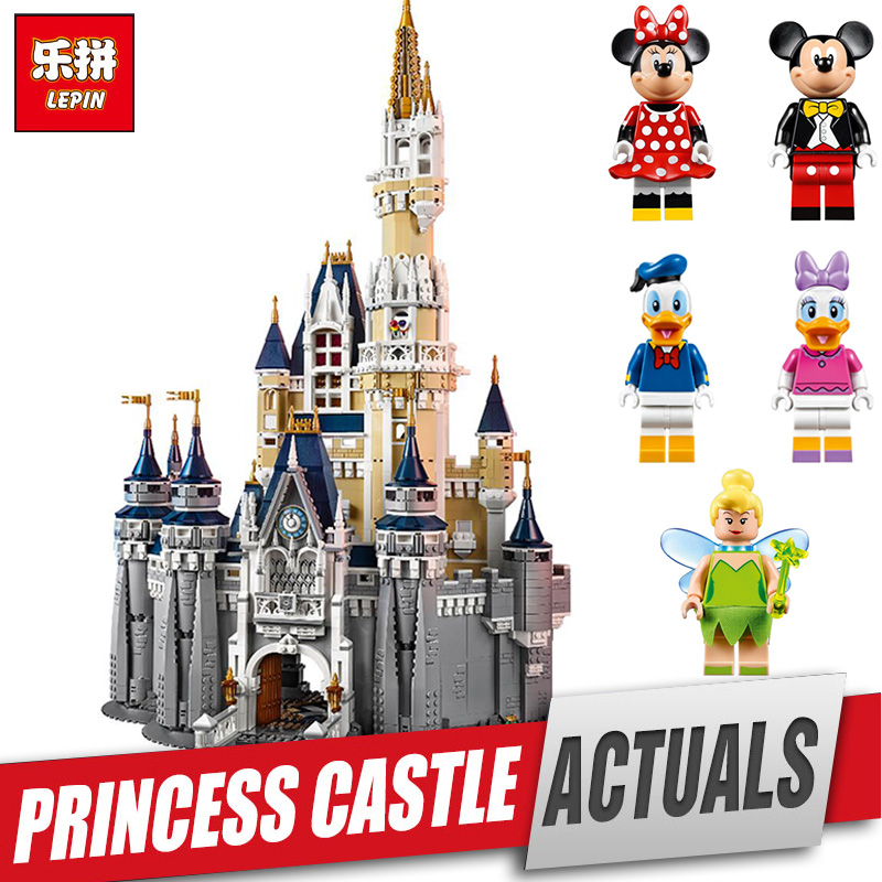 LEPIN 16008 Cinderella Princess Castle City Model Educational Building Block Kid Toys Compatible  Legom 71040 for children gift mb barbell atlet 20кг