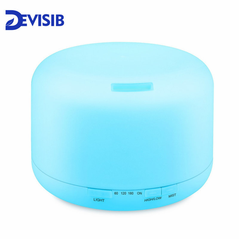 DEVISIB 500ML Essential Oil Diffuser Air Humidifier Aroma Lamp Aromatherapy Electric Ultrasonic Aroma Diffuser Mist 7 Colors LED 500ml 7 colors ultrasonic air humidifier essential oil diffuser aroma diffuser aromatherapy electric household office mist maker