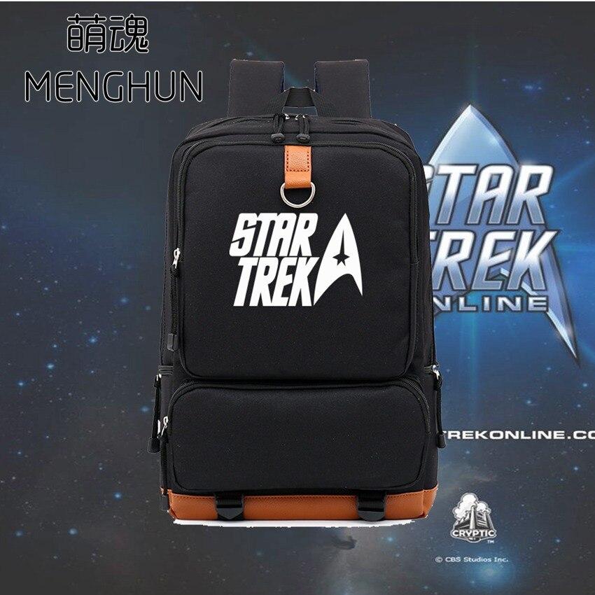 Online game Star trek props Movie fans game fans backpack new big nylon black backpack for student NB124