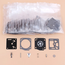 20Pcs/lot Carburetor Carb Repair Rebuild Kit Fit Husqvarna 362 365 371 372 372XP Jonsered 2065 2165 Chainsaw Zama RB-31 RB31 C3A crankcase crankshaft bearing cylinder starter engine motor rebuild kit fit husqvarna 362 365 371 372 50mm chainsaw spare parts