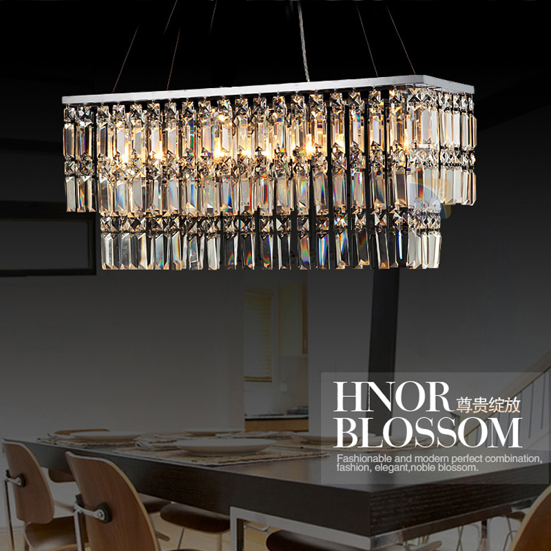 Fluorescent Pendant Lamp Crystal Lighting Aechitectural Suspension Lights Modern Linear Multi Led Lamps
