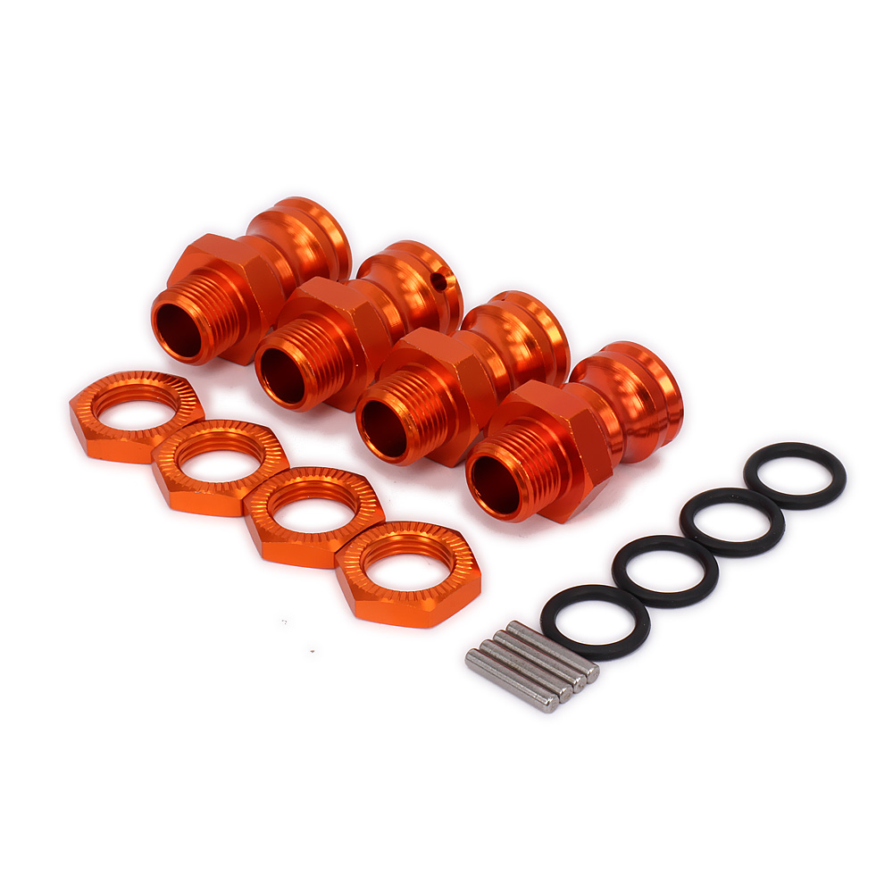 4PCS Wheel Hex Hub M17 17mm M23 23mm Extension Adapter 12mm Nut  X 4 Longer Combiner Coupler For 1/8 RC Model Car Upgraded Parts