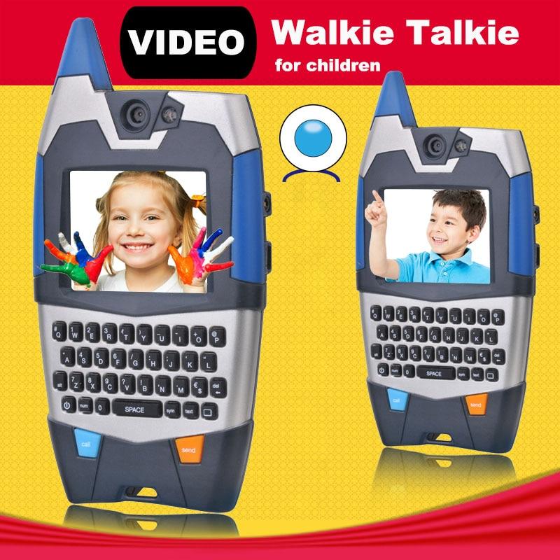 Video Talk Walkie Talkie For Children Interesting Communication Toy With Qwerty Radio 150m Talk Range