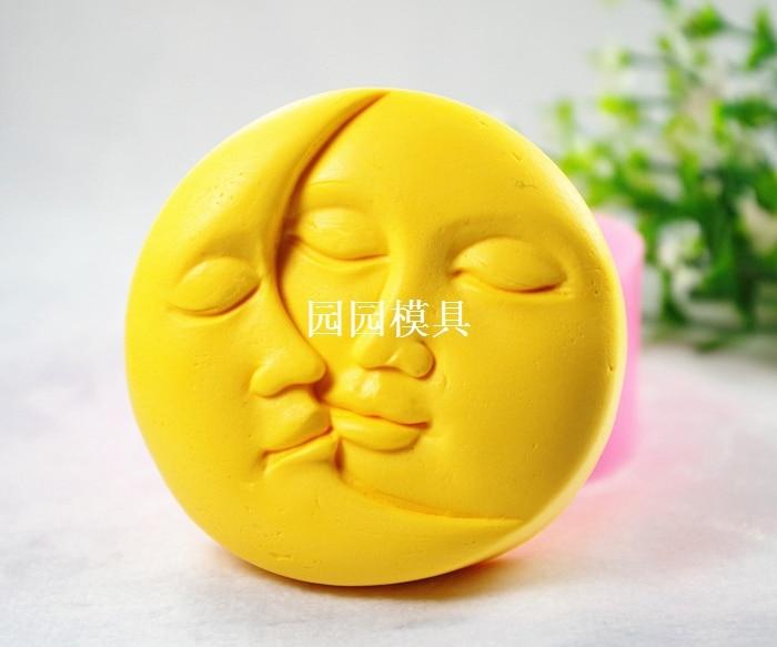 Miłośnicy uśmiechnięta twarz formy silikonowe mydło świeca formy diy carft formy s323