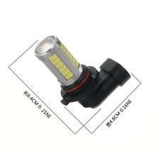 ONEWELL 2Pcs Car H8 H11 led 9005 9006 T20 33SMD LED Fog Lamp Running Light Bulb Turning Parking Bulb DC12V(China)