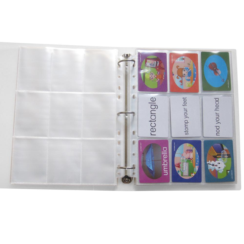 Children Kids Game Card Photo Collection PP Game Card Book 9 Compartment Album Collection Transparent Card Holder