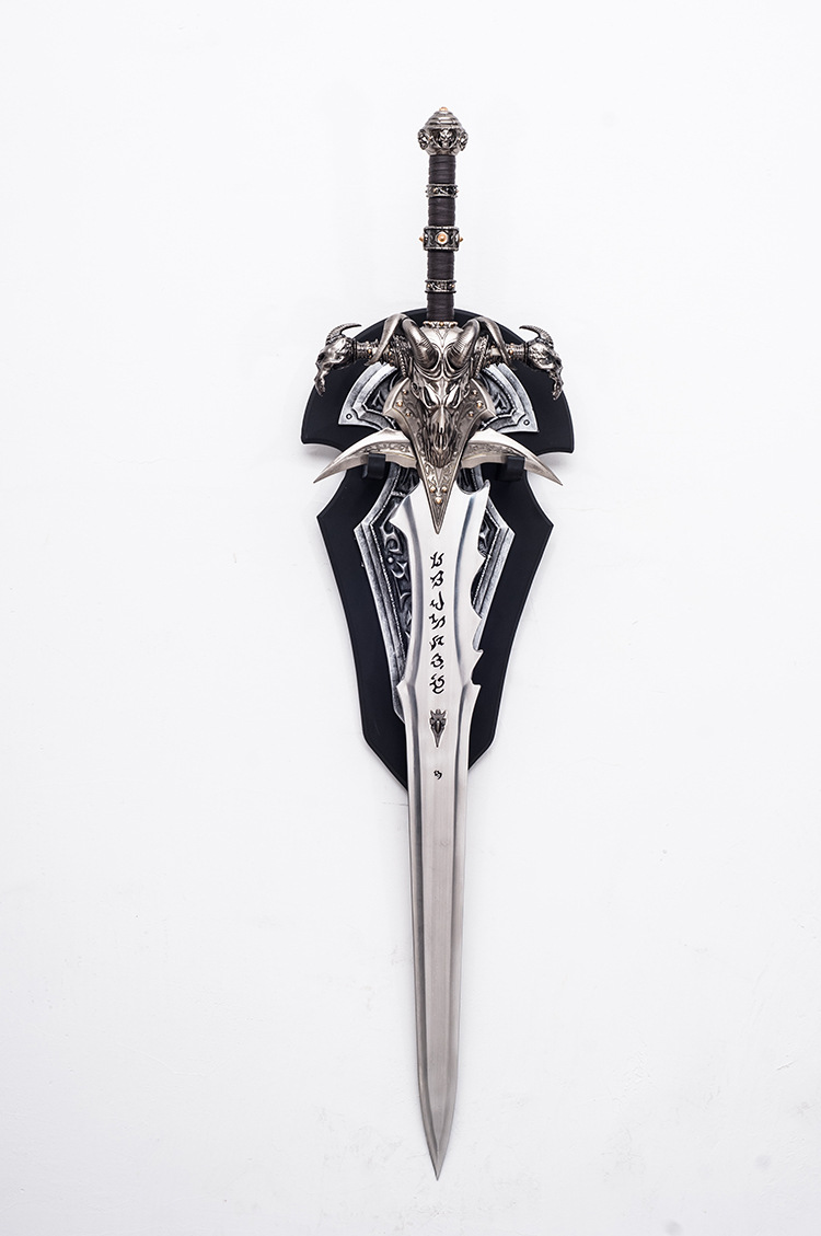 [Metal Made] Crafts 1:1 WOW Arthas Menethil Sword Frostmourne Alloy Model Adult Toys Home Decoration Adult Collection Model Gift