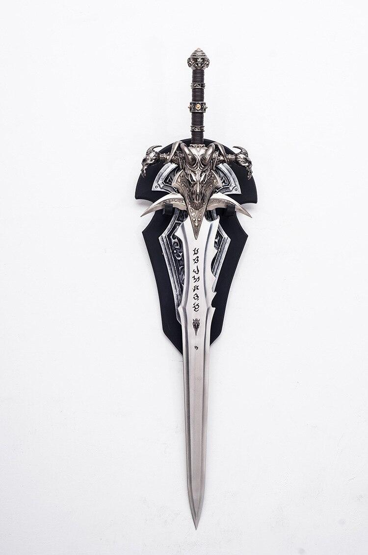 [Metallo Made] Artigianato 1:1 Wow Arthas Menethil Spada Frostmourne Modello in Lega di Giocattoli per Adulti Decorazione Della Casa per Adulti Modello di Raccolta regalo