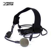 Проводной вокальный головная гарнитура динамический микрофон 3,5 мм ушной крючок для WH20TQG компьютер DSLR Камера PC беспроводной гид системы