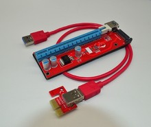 60cm USB 3.0 PCIe Riser Card PCI-E Express 1x to 16x Extender Riser Card Adapter SATA 15Pin Power Supply for BTC Miner Machine
