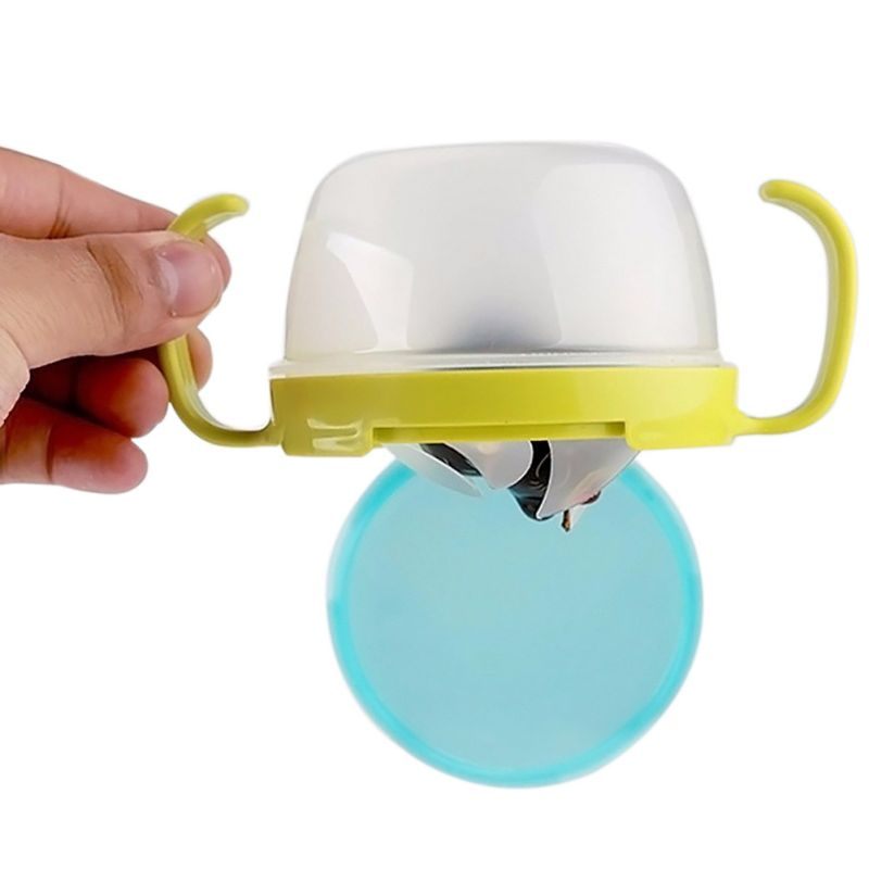 Spill Proof Bowl Plastic Snack Baby Feeding Double Handle Biscuits Snack Bowl Accessories Solid Snack Cups