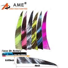 4inch 30/50/100/300 Pcs Multicolor Arrow Shield Natural Turkey Feather Archery Bow Accessories Handicraft Fletching Hunting