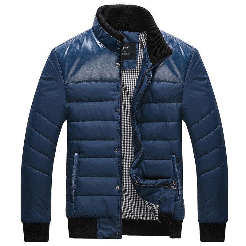 Free Shipping Winter Keep Warm Patchwork Coat men ...